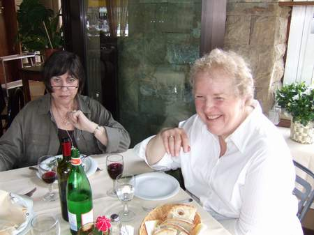 Marjorie and Linda in Italy