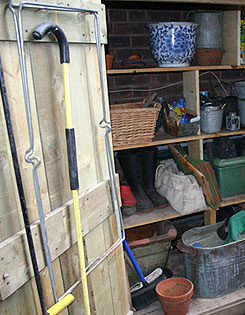 tidy and organized shed