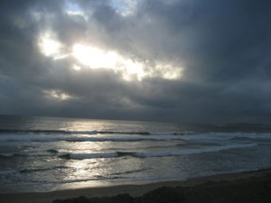 carp beach at dusk