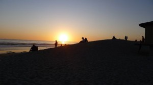 2012 people at sunset